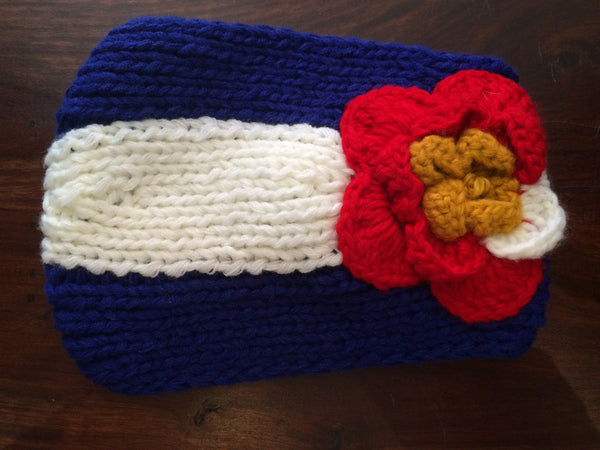 Colorado Flag Flower Headband