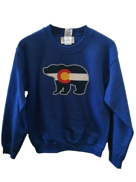 Colorado Flag Bear Crewneck