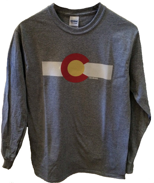 Colorado Flag Long Sleeve Tee Shirt