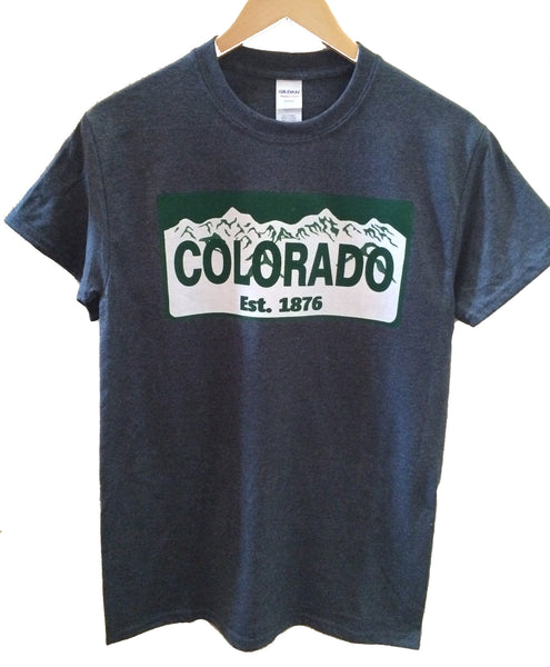 Colorado License Plate Tee Shirt