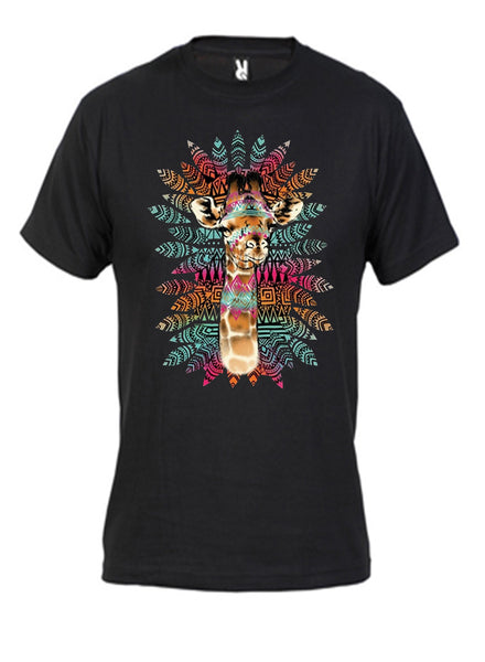 Tribal Giraffe tee shirt
