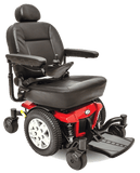 Pride Jazzy 600 ES Full Size Power Wheelchair Red Right