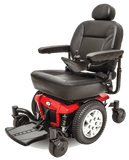 Pride Jazzy 600 ES Full Size Power Wheelchair Red Left