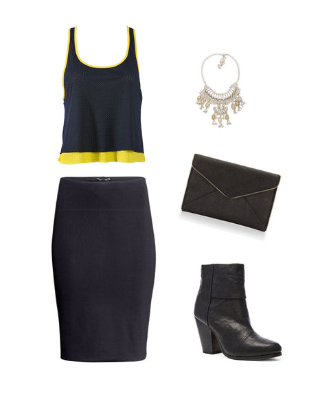 University of Michigan Double Layer Tank Dressy Look