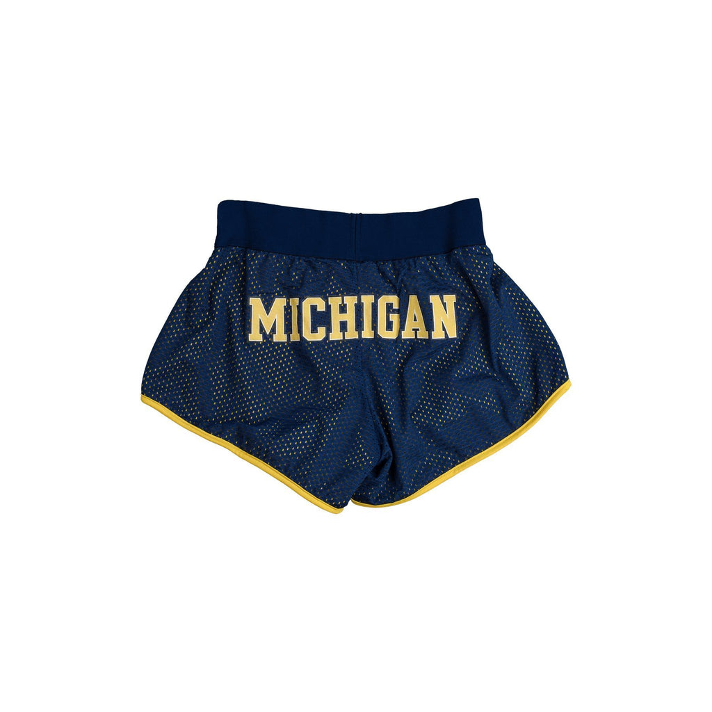 University of Michigan Mesh Running Short