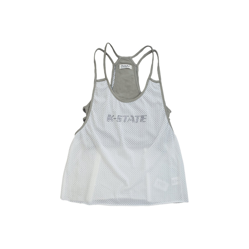 Kansas State University Mesh Tank with Rhinestones and Attached Sporty Bralette