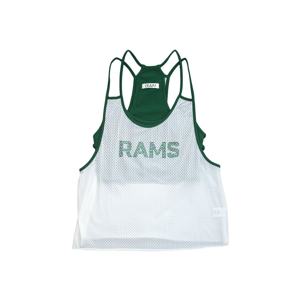 Colorado State University Mesh Tank with Rhinestones and Attached Sporty Bralette