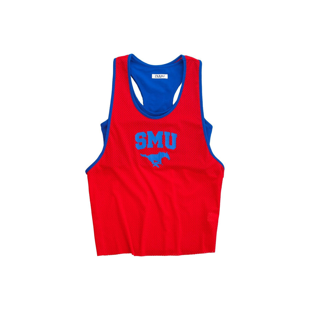 Southern Methodist University Mesh Tank with Attached Sporty Bralette