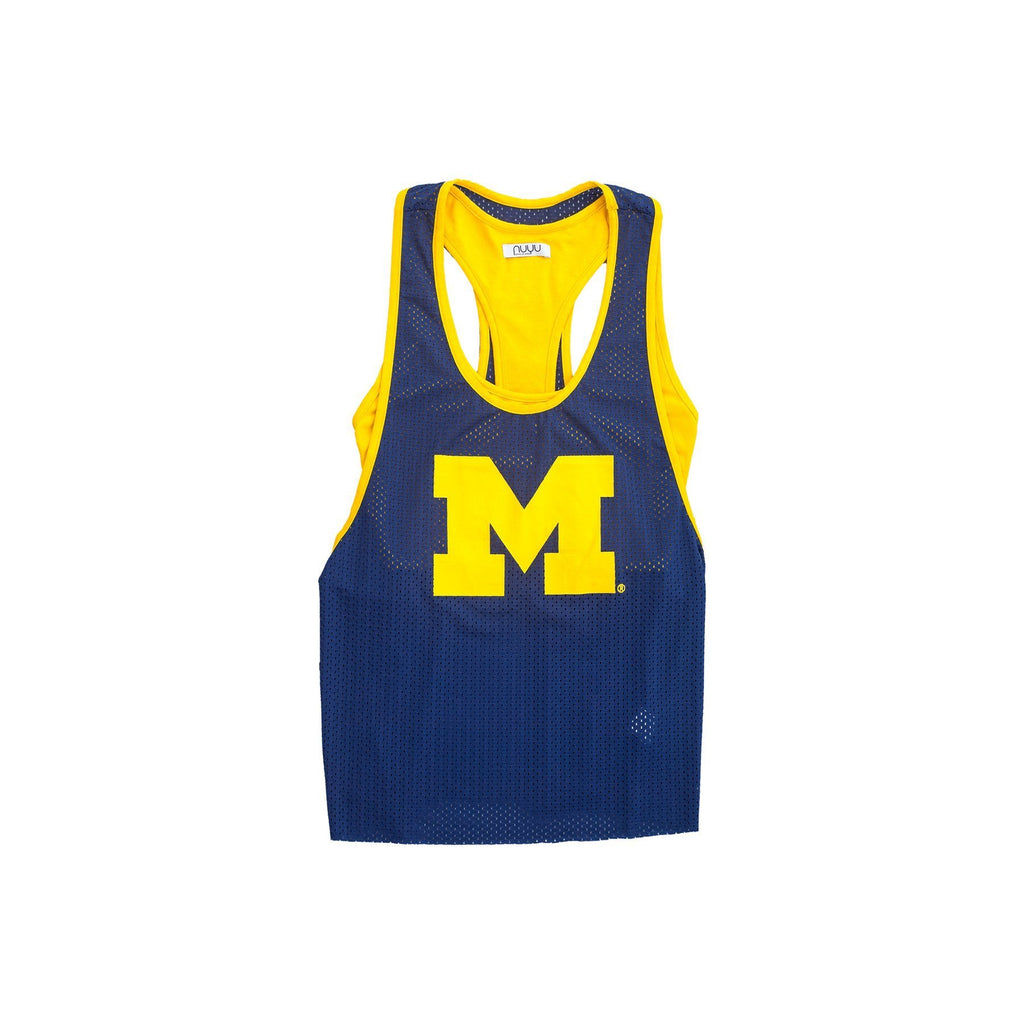 University of Michigan Mesh Tank with Attached Sporty Bralette