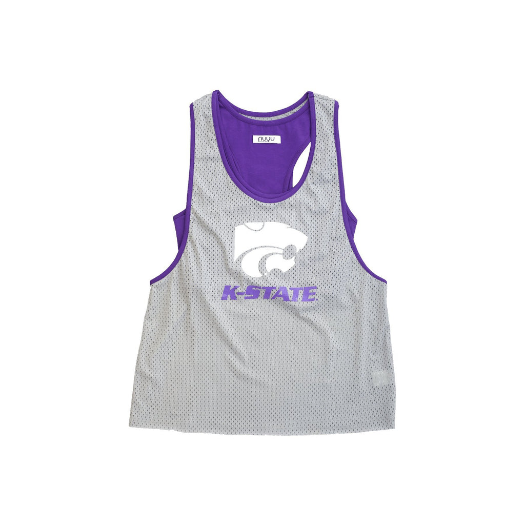 Kansas State University Mesh Tank with Attached Sporty Bralette