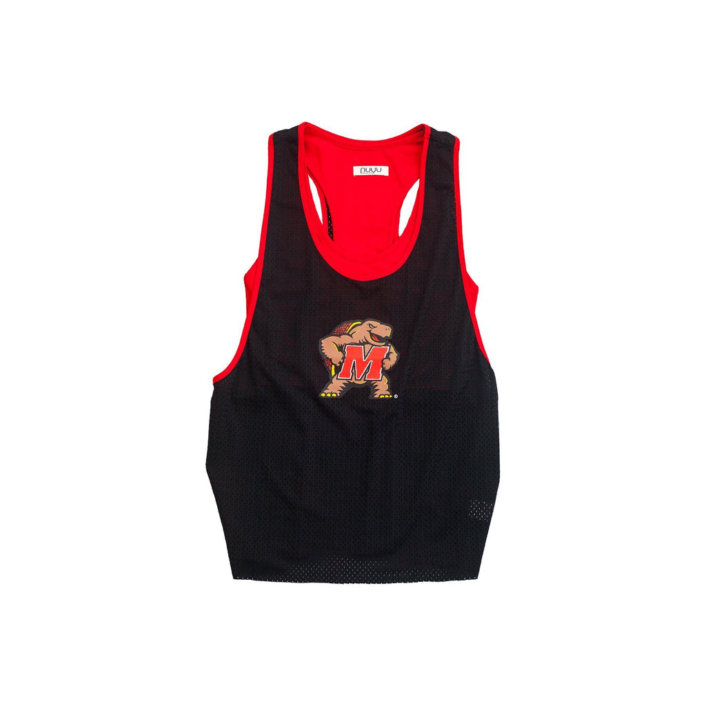 University of Maryland Mesh Tank with Attached Sporty Bralette