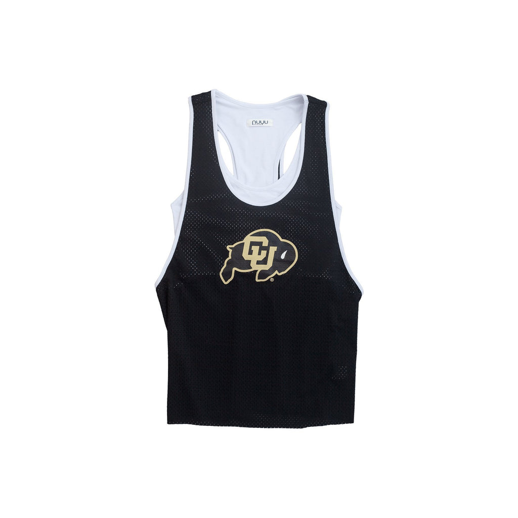 University of Colorado Mesh Tank with Attached Sporty Bralette