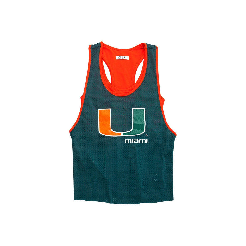 University of Miami Mesh Tank with Attached Sporty Bralette