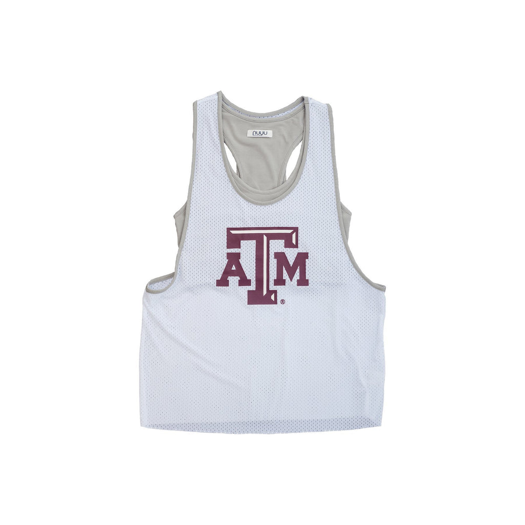 Texas A&M University Mesh Tank with Attached Sporty Bralette