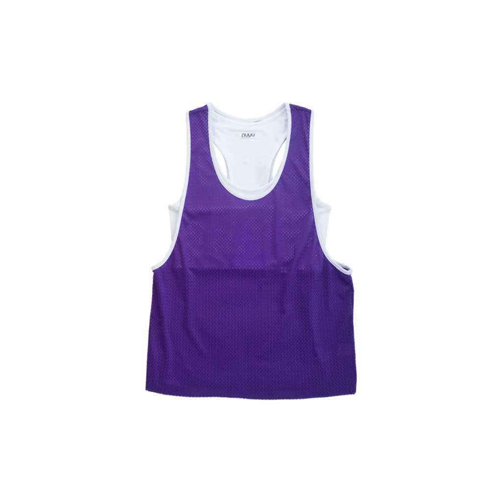 New York University Mesh Tank with Attached Sporty Bralette