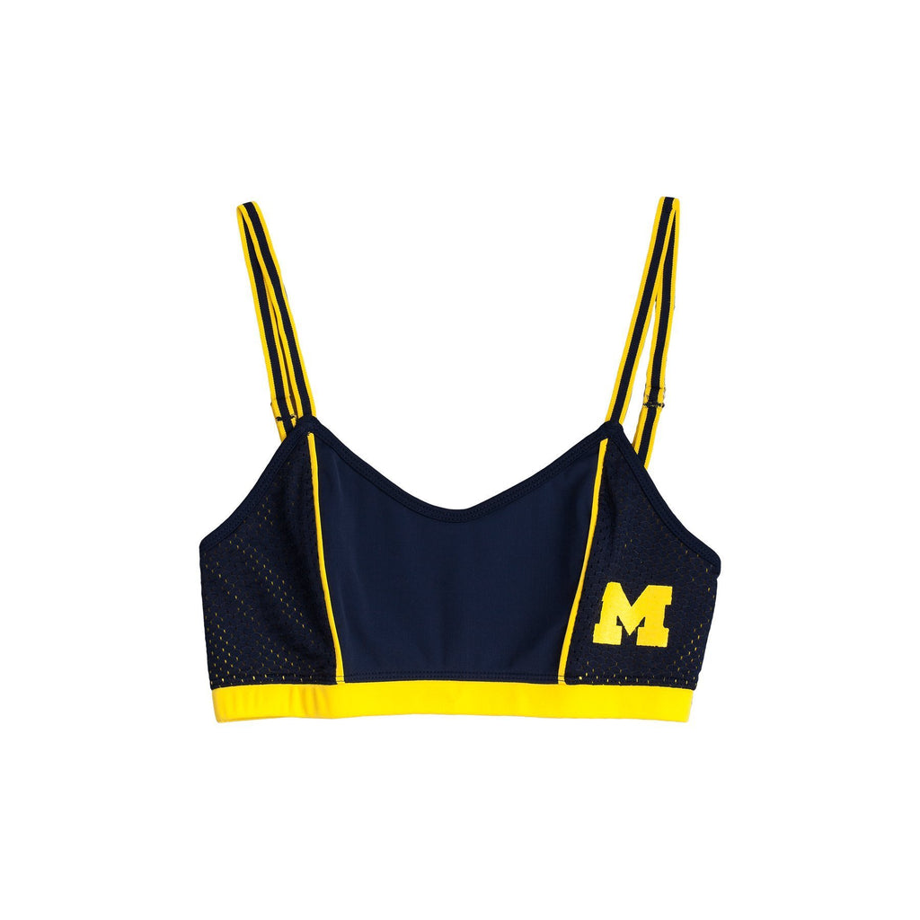 University of Michigan Sporty Bralette with Back Straps