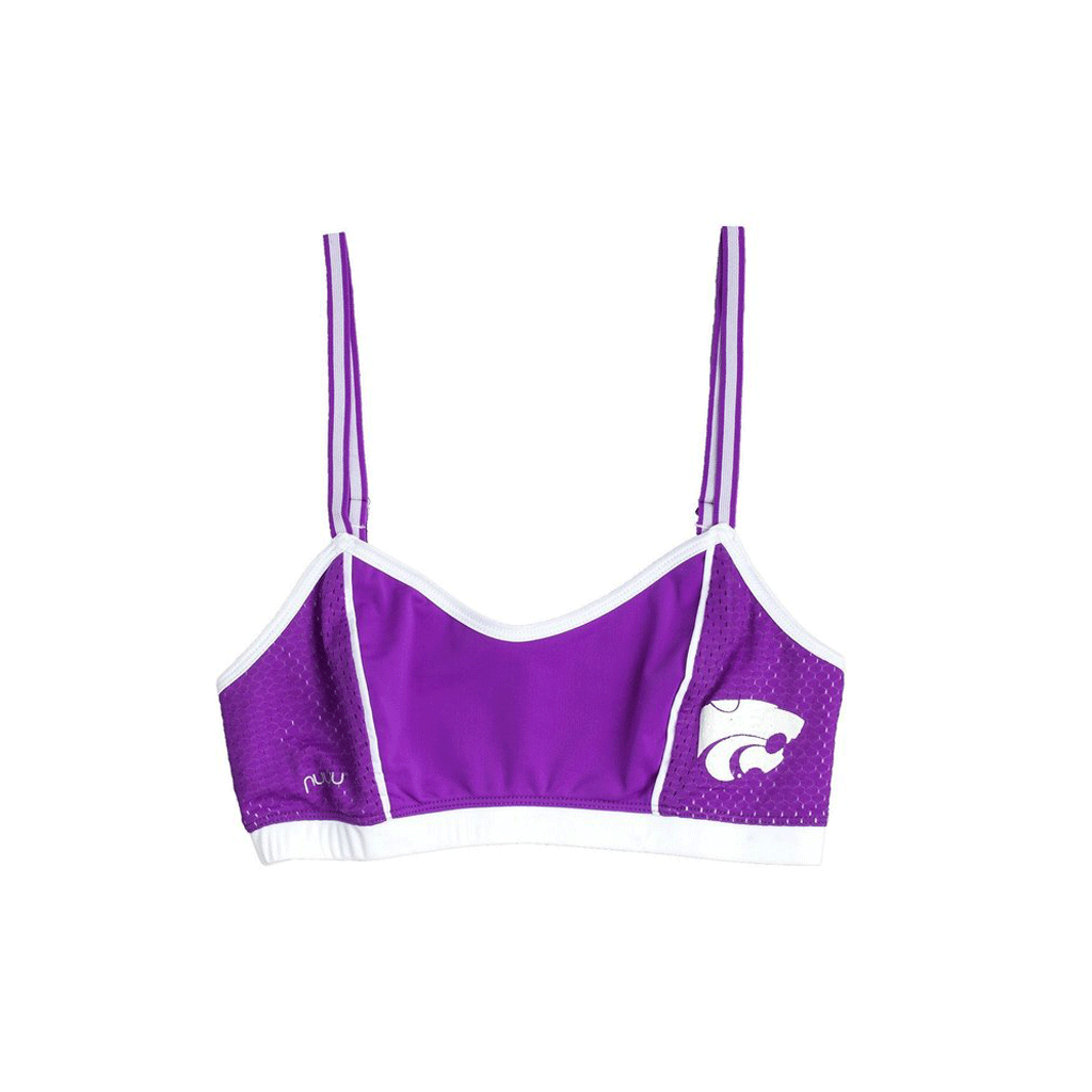 Kansas State University Sporty Bralette with Back Straps