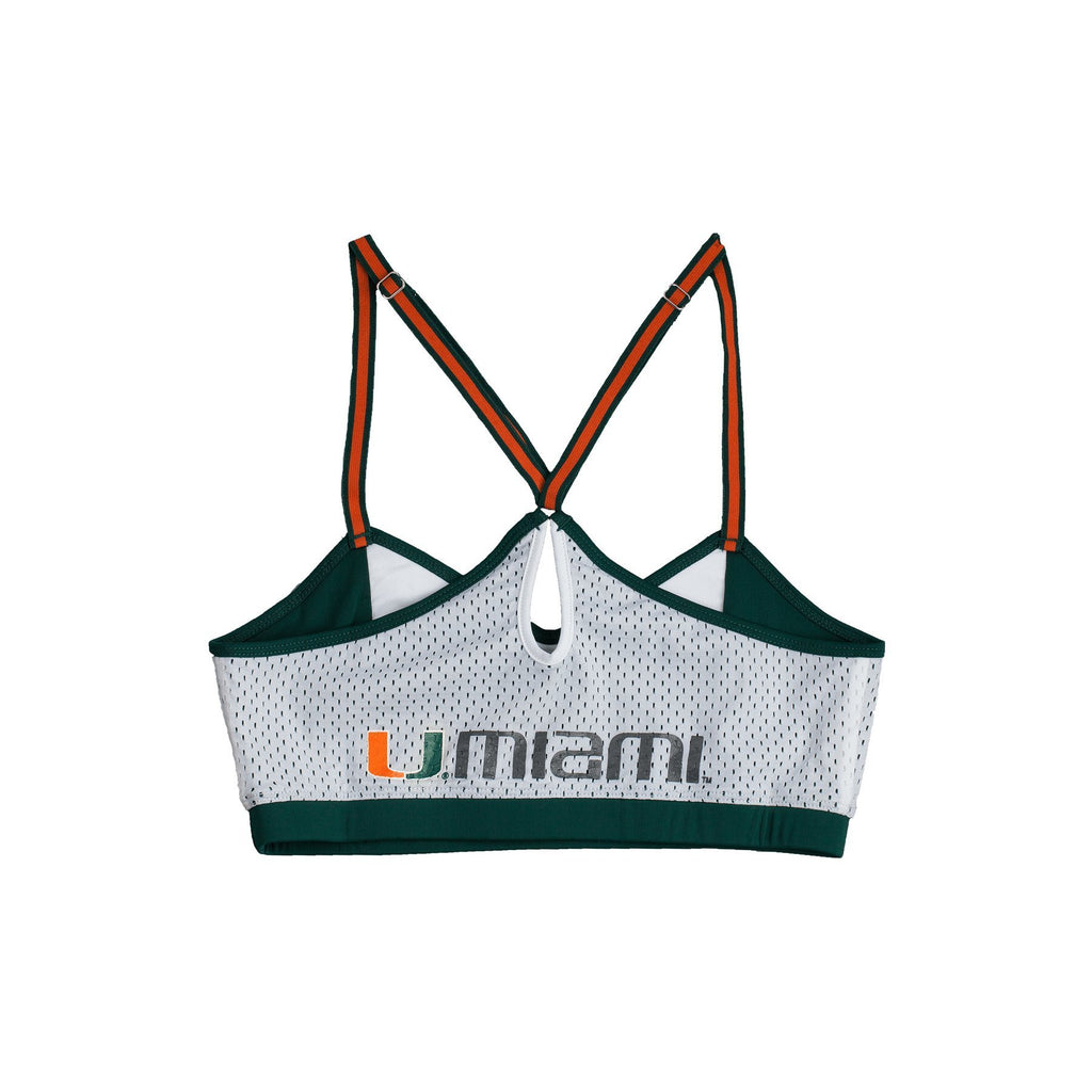 University of Miami Sporty Bralette with Keyhole