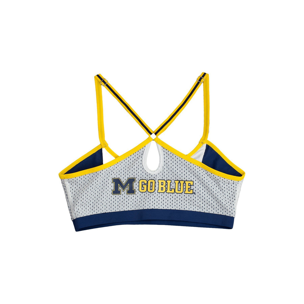 University of Michigan Sporty Bralette with Keyhole