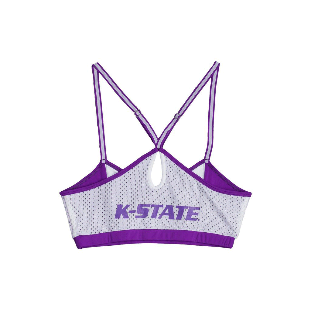 Kansas State University Sporty Bralette with Keyhole