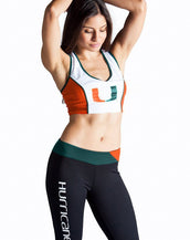 University of Miami Sporty Cropped Tank