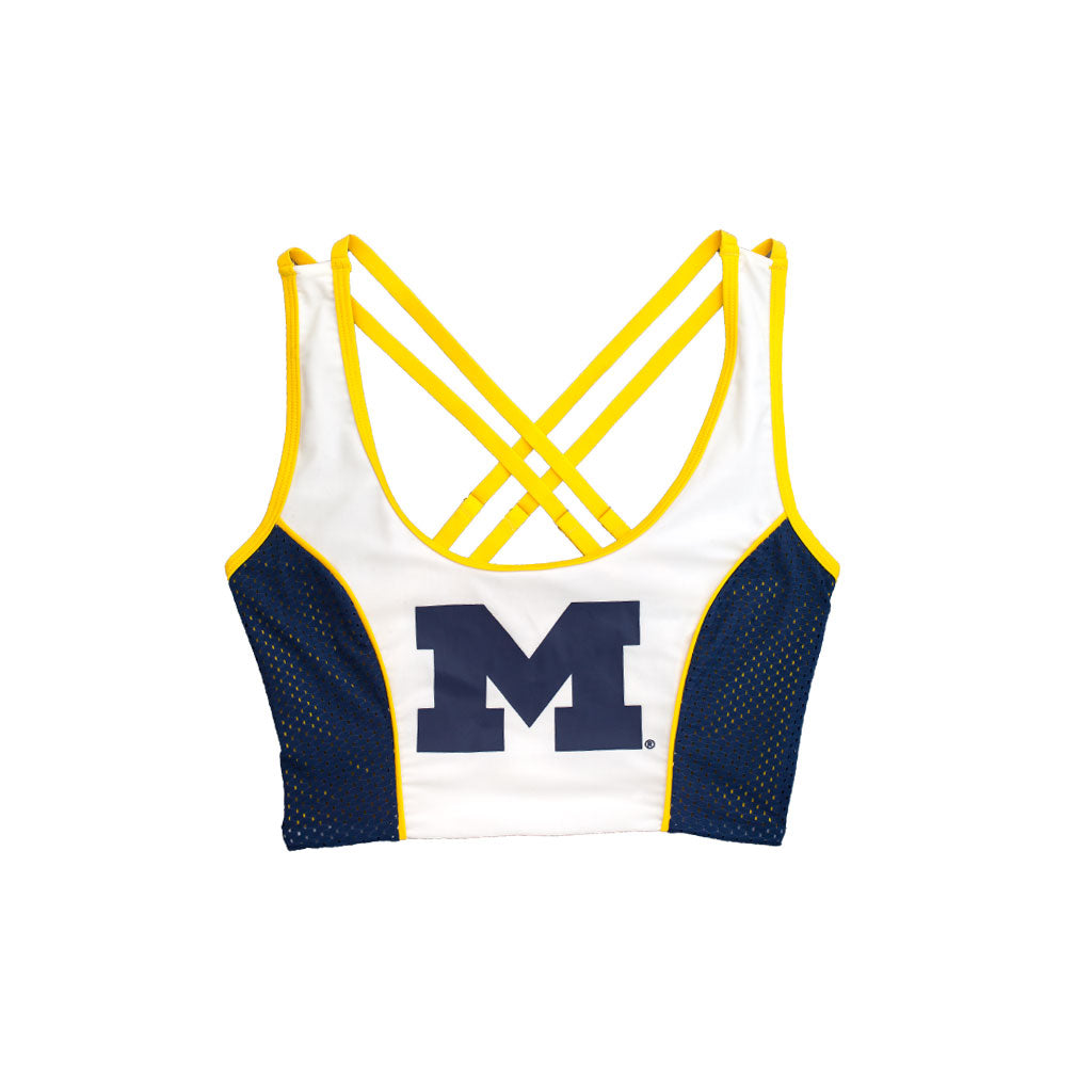 University of Michigan Sporty Cropped Tank