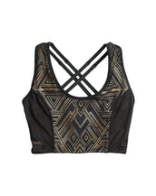Wonder Woman Gold Maze Cropped Tank with Foil Print