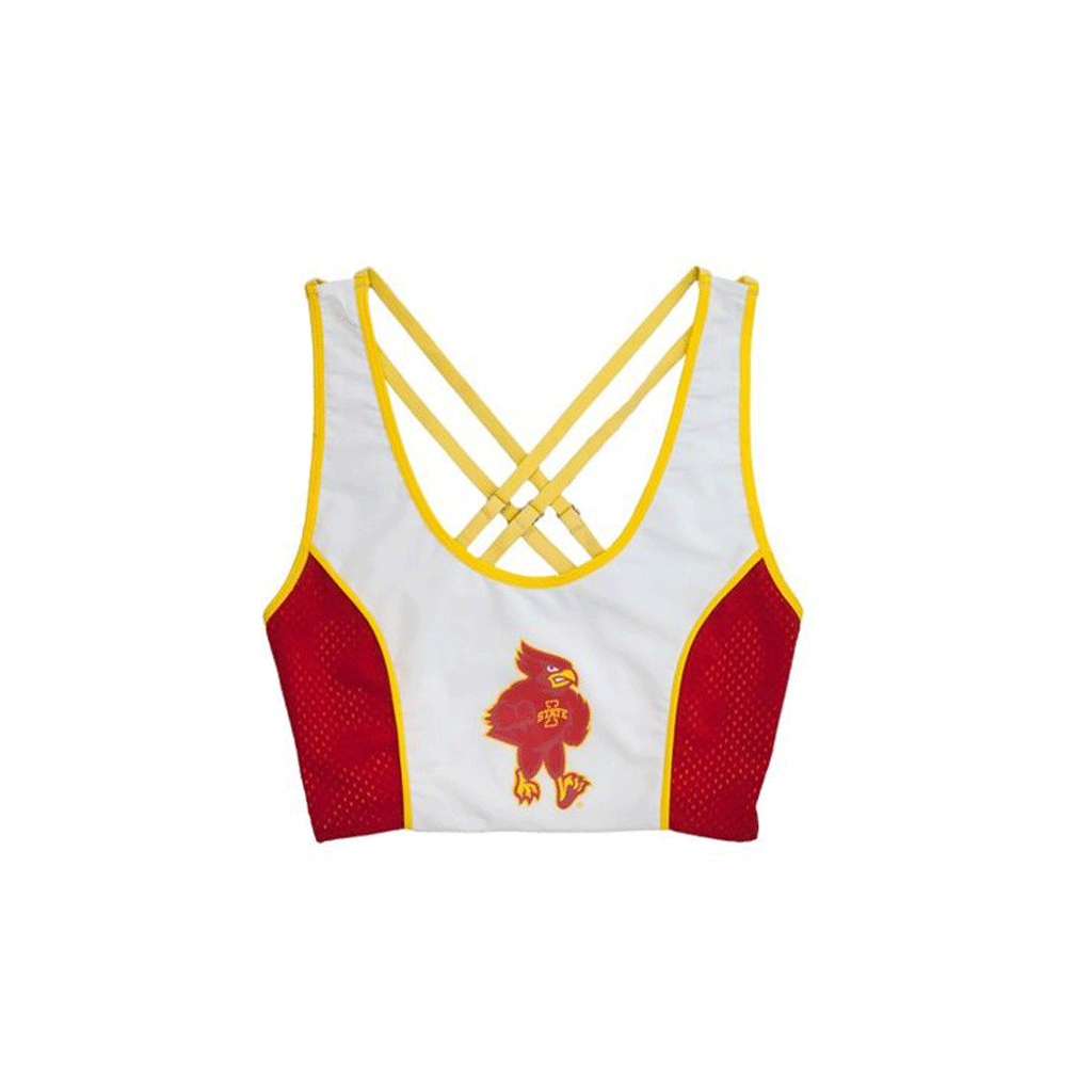 Iowa State University Sporty Cropped Tank