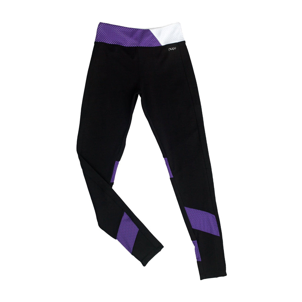 New York University Yoga Legging with Mesh Inserts