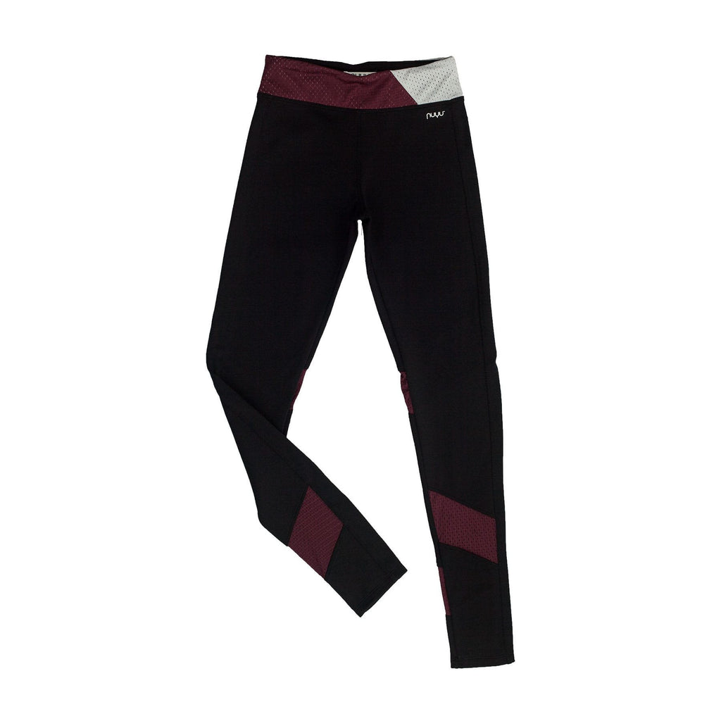 Yoga Legging with Maroon Mesh Insert