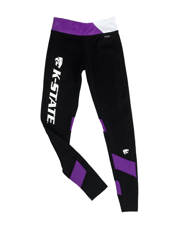 Kansas State University Yoga Legging with Mesh Insert