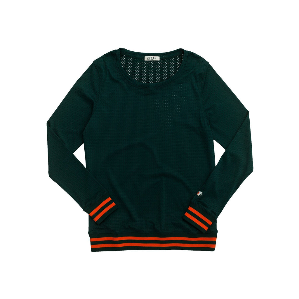 University of Miami Mesh Sweatshirt