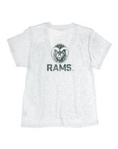 Colorado State University Deep V-Neck Burnout Tee