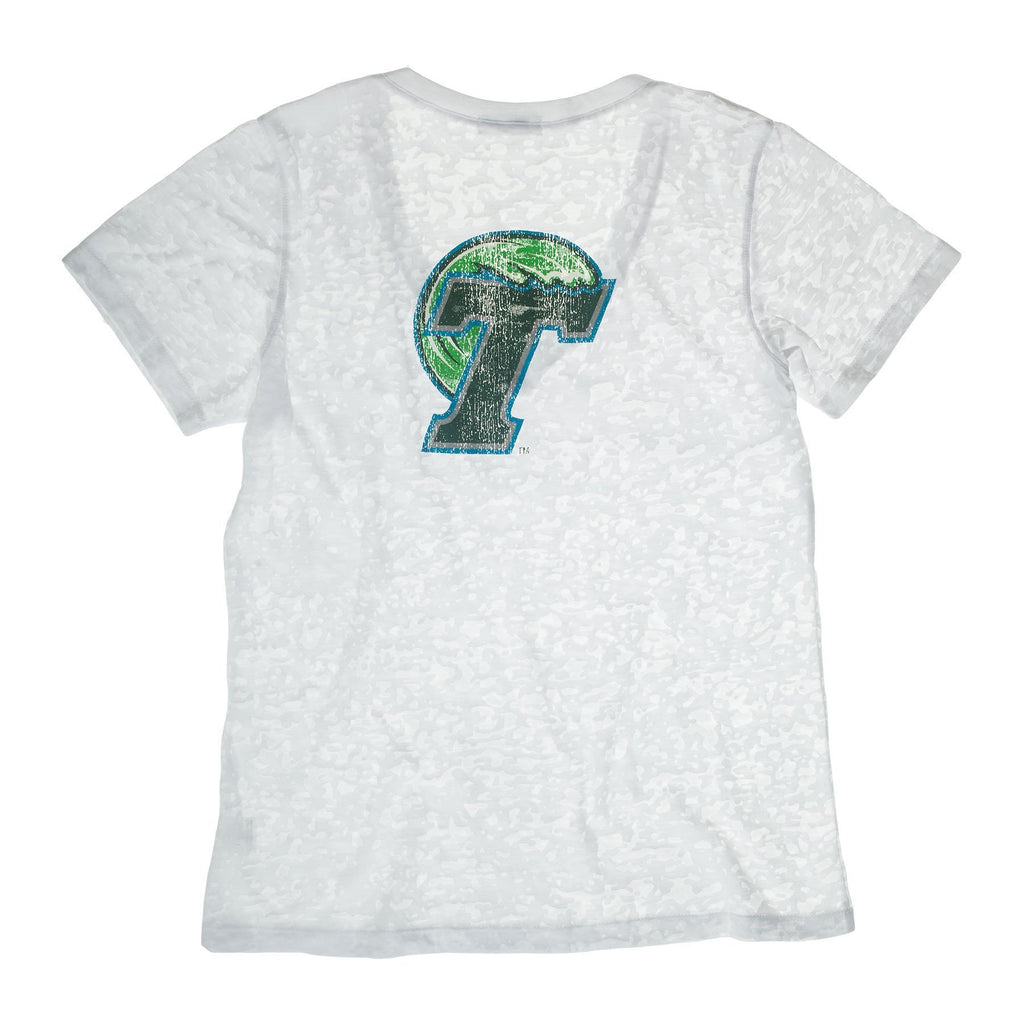 Tulane University Deep V-Neck Burnout Tee