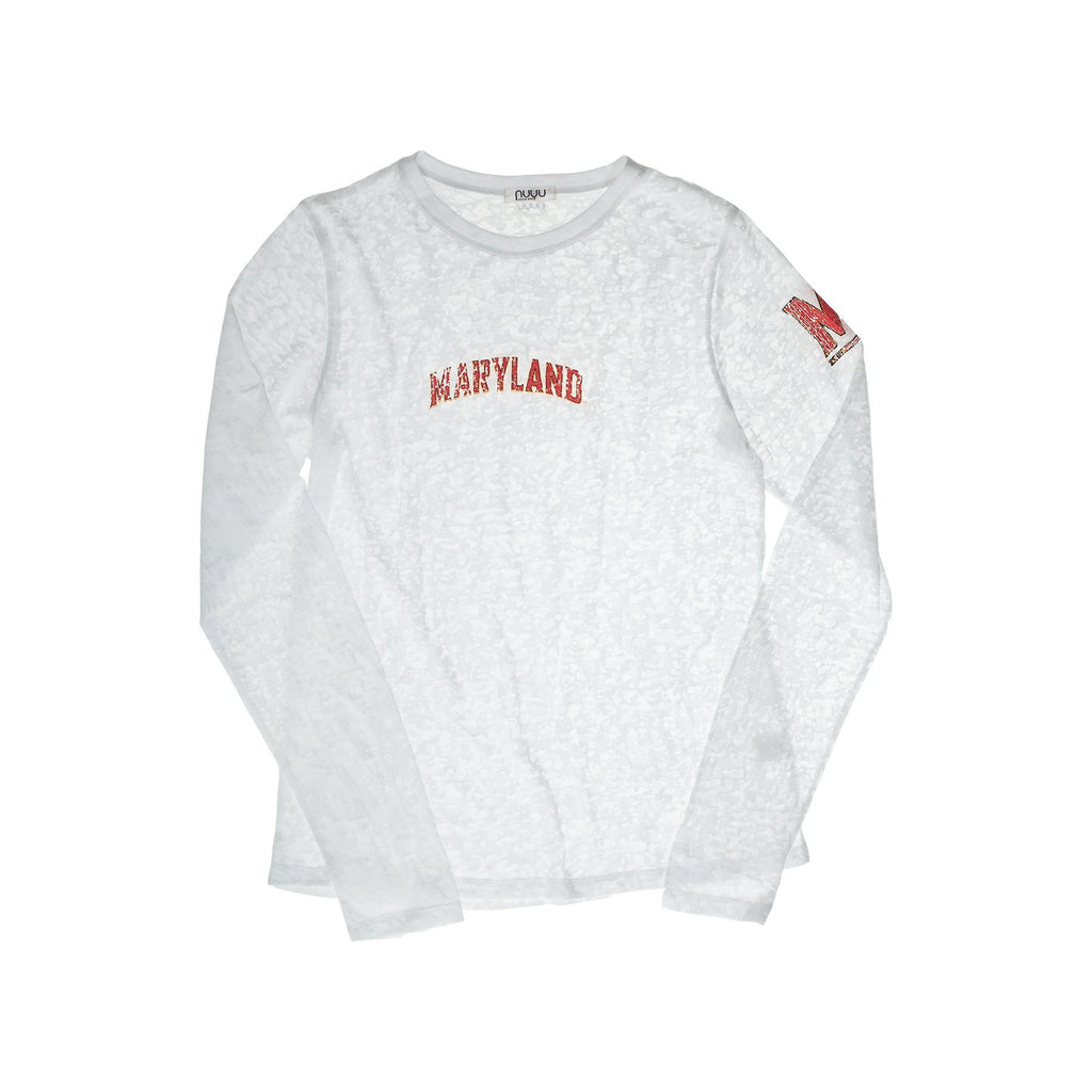 University of Maryland Long Sleeve Burnout Crew