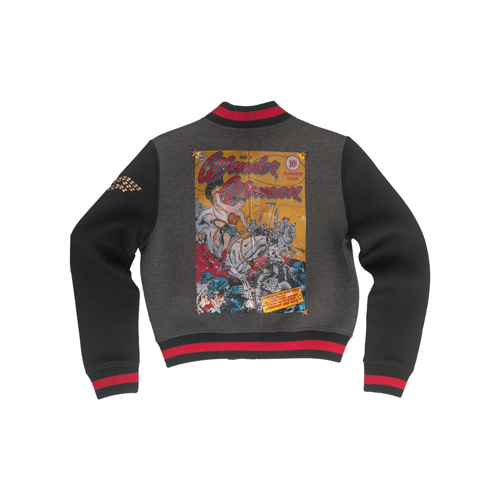 Vintage Comic Book Neoprene Varsity Jacket