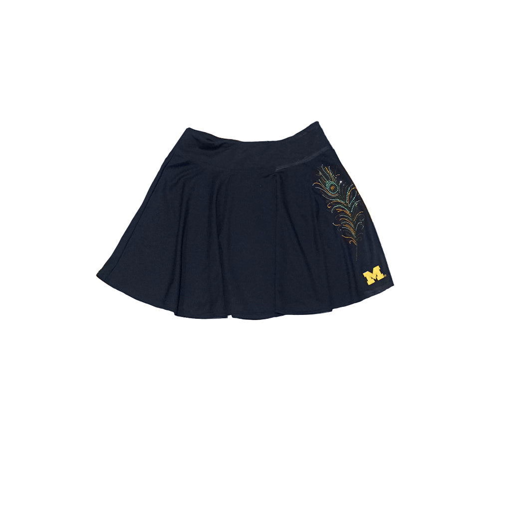UNIVERSITY OF MICHIGAN SKATER SKIRT WITH RHINESTONES