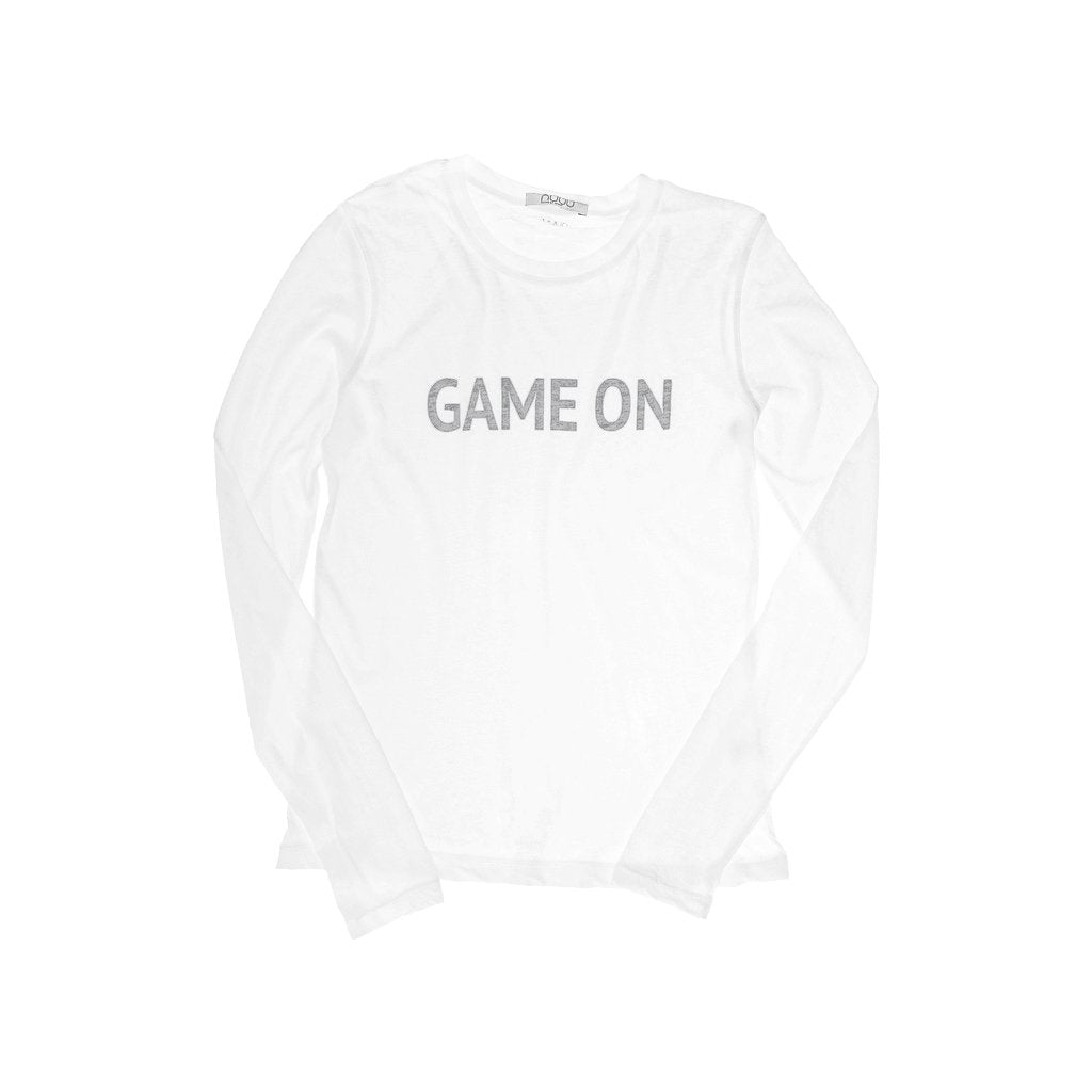 Game On Black Long Sleeve Crew Neck