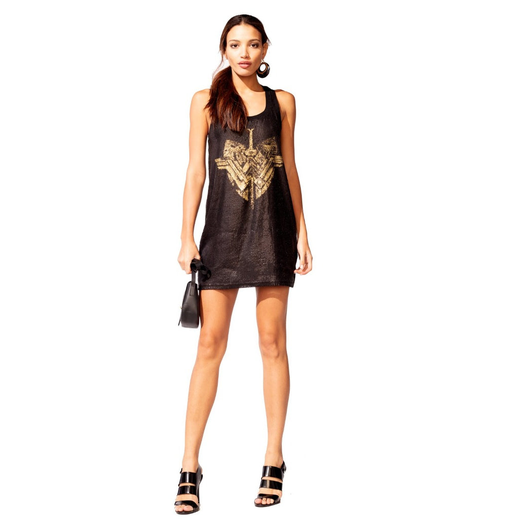 Racerback Dress with Sequins