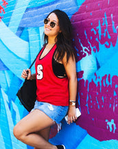 North Carolina State University Mesh Tank with Attached Sporty Bralette
