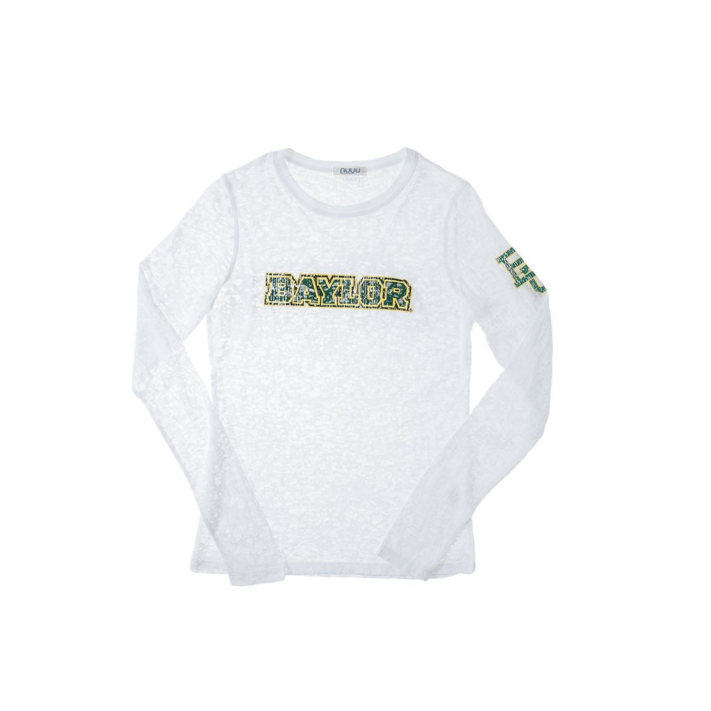 Baylor University Long Sleeve Burnout Crew