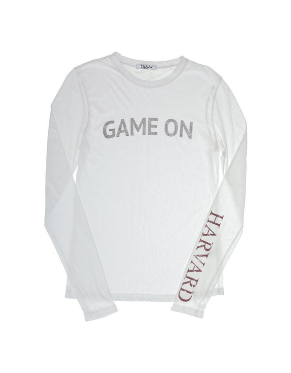 Custom Harvard Vintage Crimson Long Sleeve Crew Neck