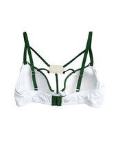 Colorado State University Demi NUKINI Contrast Mesh Bra with Fixed Dog Tag Pendant
