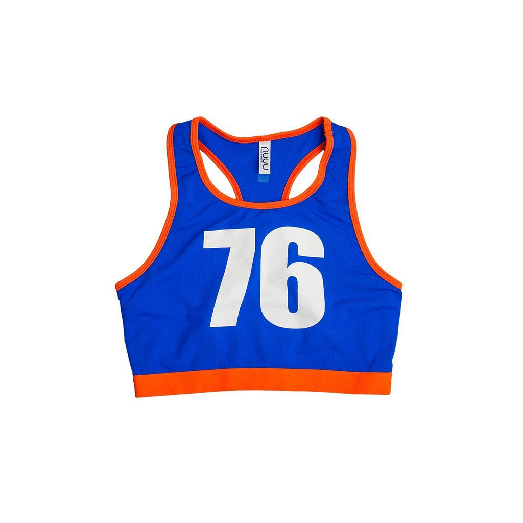 "Halter Blue ""76"" Sports Top"