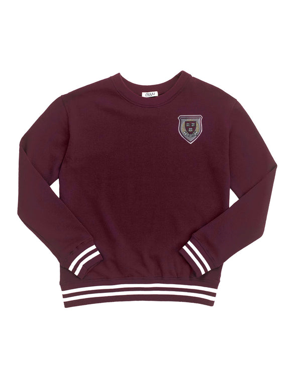 Harvard Vintage Crimson Patched Mesh Back Sweatshirt