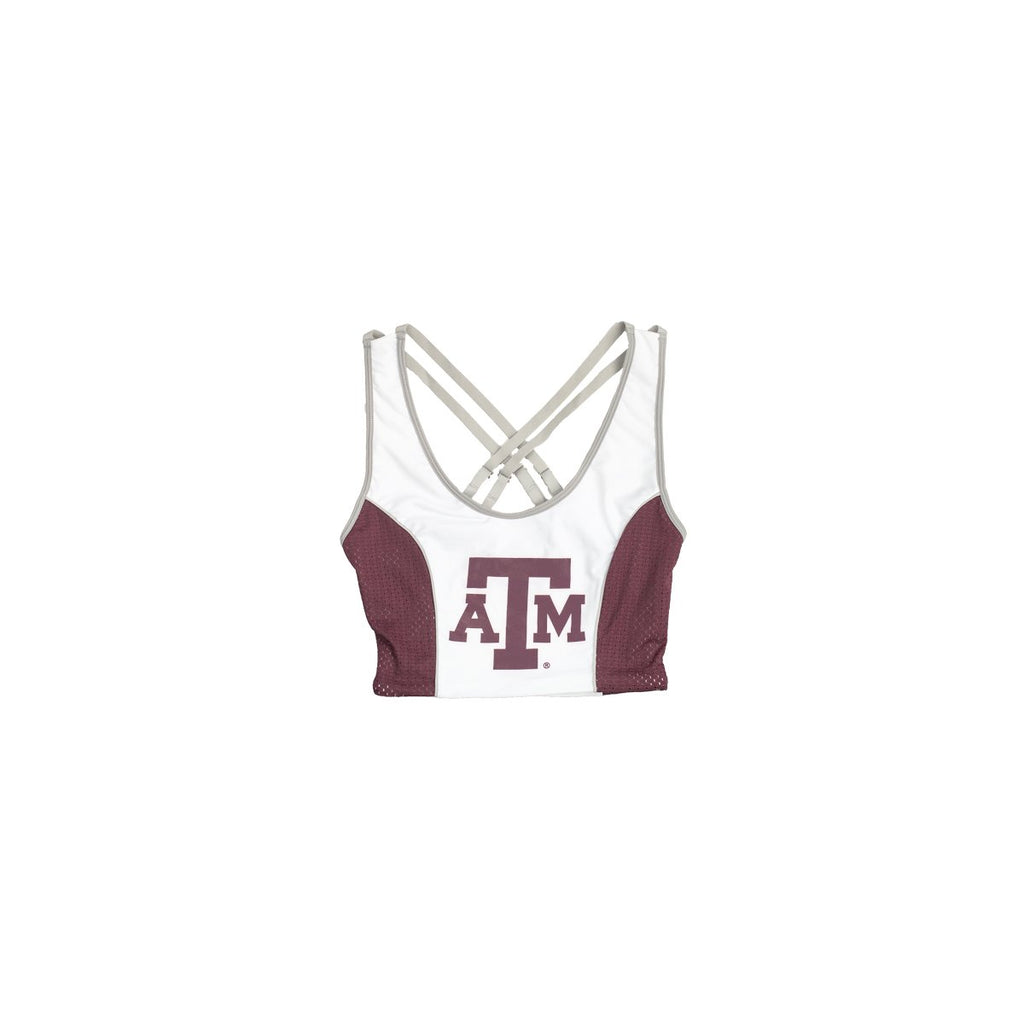 Texas A&M University Sporty Cropped Tank