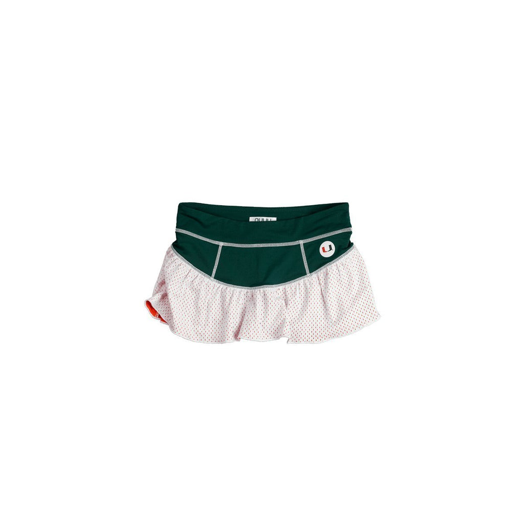 University of Miami Ruffle Skort