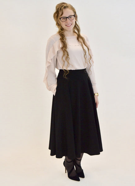 The Black Dainty Darling Skirt