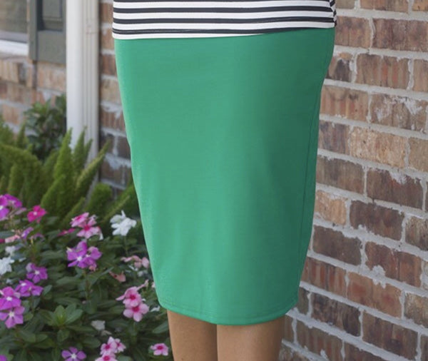 The Kelly Green Bailey Pencil Skirt
