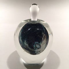 Vintage Josh Simpson Art Glass Paperweight Inhabited Planet Perfume Bottle